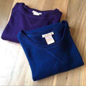 2/$30 Sweet Romeo Sweater Women's M Purple Blue